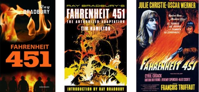 fahrenheit 451 Bradbury novela comic pelicula
